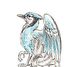 Mythological House Griffin: Blue Jay Variety by Stephanie Smith