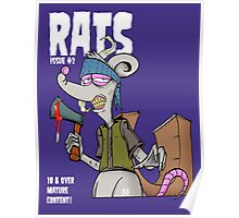 Rats issue #2 comic book cover Poster