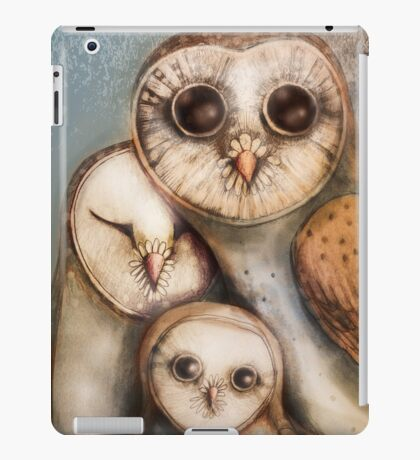 three wise owls iPad Case/Skin