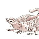 Sketch -- Mythological House Griffin, Sparrow variety by Stephanie Smith