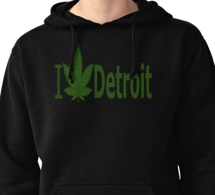 0099 I Love Detroit Pullover Hoodie