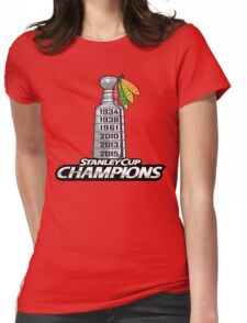 Chicago BlackHawks Stanley Cup Champions Womens Fitted T-Shirt