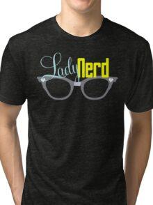 Proud LadyNerd (Grey Glasses) Tri-blend T-Shirt