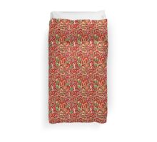 Red Nature Pattern Duvet Cover