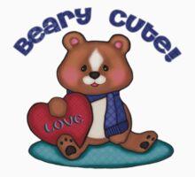 Beary Cute Teddy Bear T-Shirt by Jamie Wogan Edwards