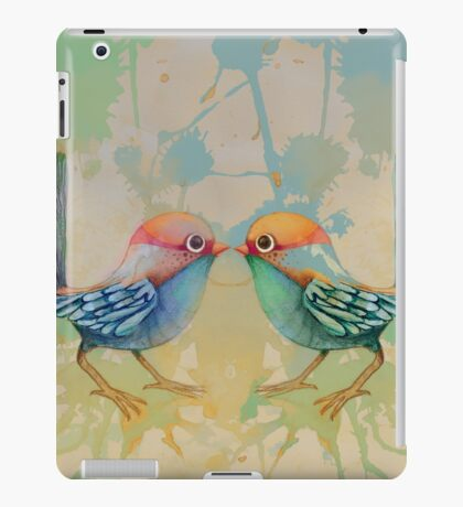 little love birds blue iPad Case/Skin