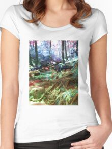 psychedelic forest Women's Fitted Scoop T-Shirt