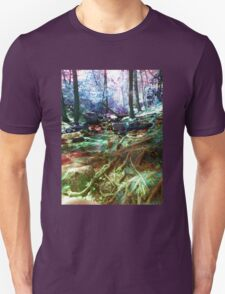 psychedelic forest Unisex T-Shirt