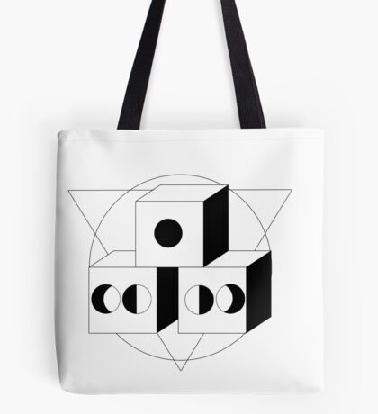 The Moon, The Triangle and The Cube Tote Bag