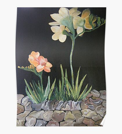 """Sweet Freesias - Mum said """"I smell their sweetness my day will be good"""" Poster"""