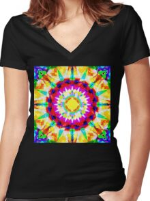 Soluble Women's Fitted V-Neck T-Shirt