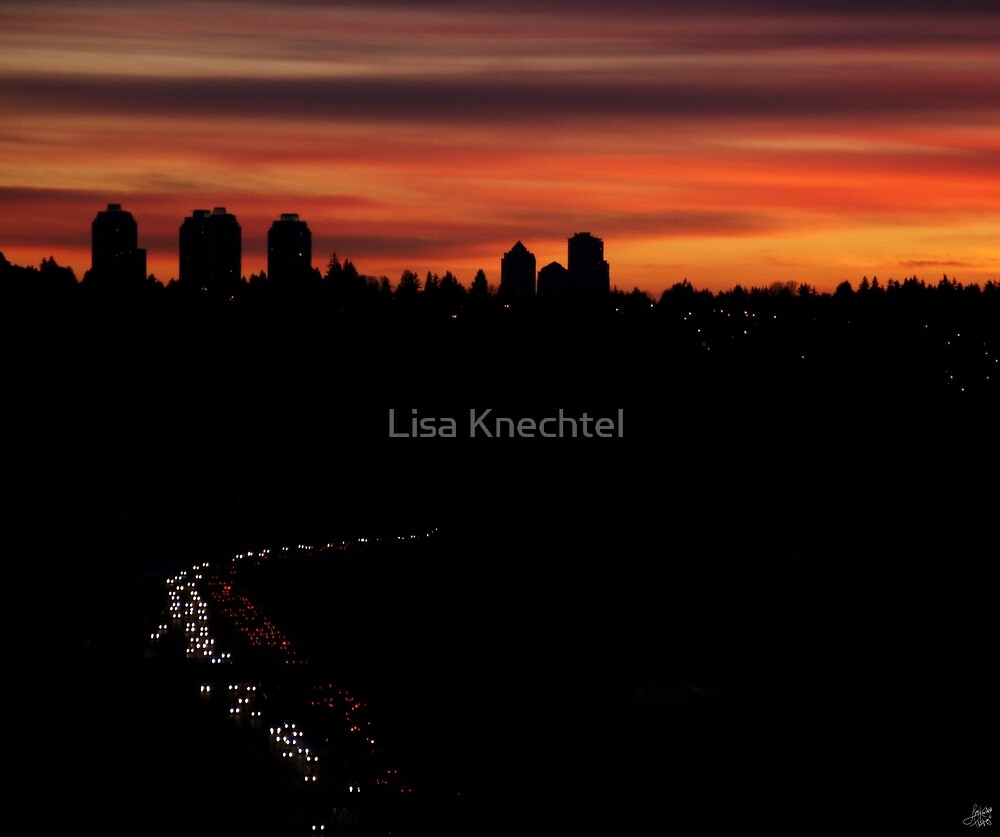 Sunset Commuters by Lisa Knechtel