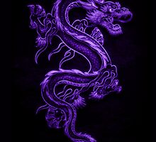 Asian Purple Dragon Pattern by HavenDesign