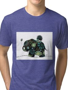 The Elephant and the Peacock Tri-blend T-Shirt