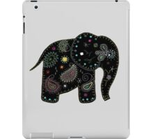 black embroidered elephant iPad Case/Skin