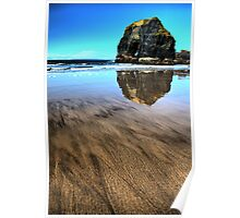 Virgin Rock Seascape - Ballybunion Poster