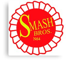 Super Smash Brothers 64 Ribbon Canvas Print