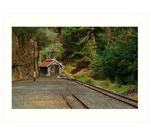 Railway Coach Shed,Walhalla  Art Print