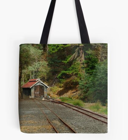 Railway Coach Shed,Walhalla  Tote Bag