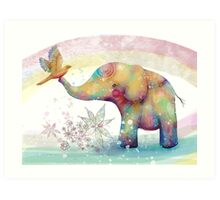 The Indigo Elephant Art Print
