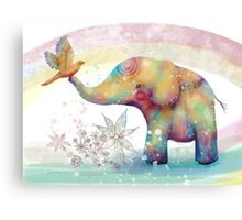 The Indigo Elephant Canvas Print