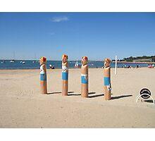 Geelong Lifeguard Bollards Photographic Print