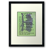 Murphy was a grunt, by Tim Constable Framed Print
