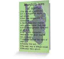 Murphy was a grunt, by Tim Constable Greeting Card