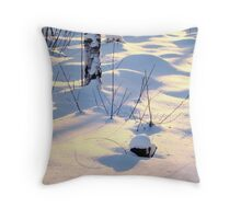 Skyblue pink Throw Pillow