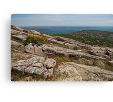 Rocky Coastal Terrain, in Maine  Canvas Print