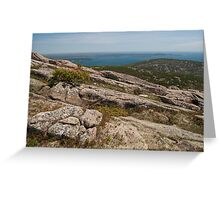 Rocky Coastal Terrain, in Maine  Greeting Card
