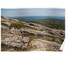 Rocky Coastal Terrain, in Maine  Poster