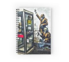 Government listening post by Banksy! Spiral Notebook