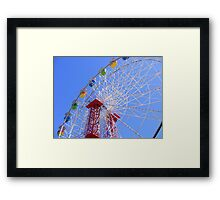 THE ICONIC WAYVILLE FERRIS WHEEL - ADELAIDE SHOWGROUNDS - SOUTH AUSTRALIA Framed Print