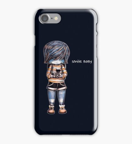 Smile Baby - Retro Tee iPhone Case/Skin