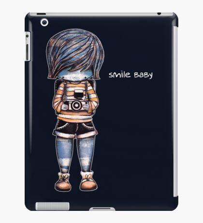Smile Baby - Retro Tee iPad Case/Skin