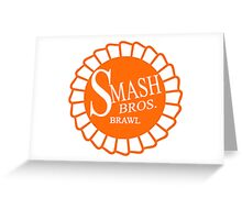 Super Smash Brothers Brawl Ribbon Greeting Card