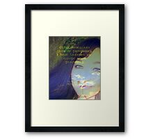 """Compliments are gifts of prosperity featured in """"Affirmations"""" Framed Print"""