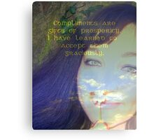 """Compliments are gifts of prosperity featured in """"Affirmations"""" Metal Print"""