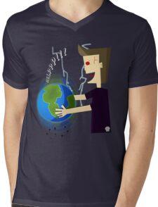 EartHShaker (earth in danger-earthquake) Mens V-Neck T-Shirt