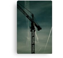 Crane towering in the Bedford sky. Canvas Print