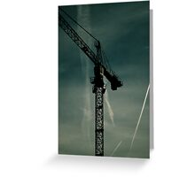 Crane towering in the Bedford sky. Greeting Card