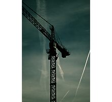 Crane towering in the Bedford sky. Photographic Print