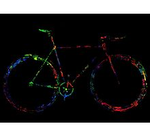 Word and colorful fixie! Photographic Print
