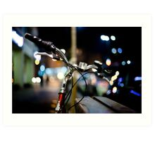 bicycle@night Art Print