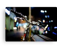 bicycle@night Canvas Print