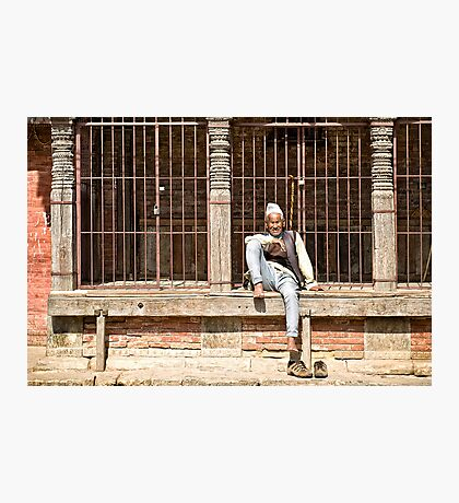 Nepalese Old Man Photographic Print
