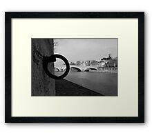 Anneaux sur les quai de l'île Saint-Louis Framed Print
