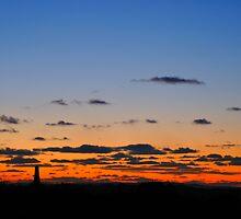 Sunset over Redruth, Cornwall by Pixsellchix