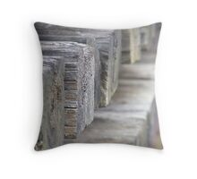Railway Sleepers Throw Pillow